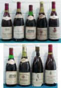 9 Bottles Mixed Lot Fine Red Burgundy and Chateauneuf du Pape