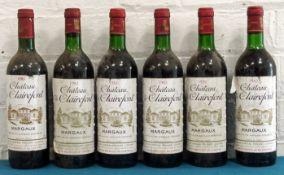 6 Bottles Mixed Lot Chateau de Clairefont Margaux