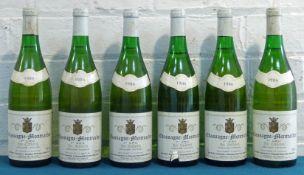 6 Bottles Chassagne-Montrachet Premier Cru 'Les Caillerets' Domaine Paul Pilot 1986