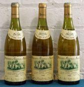 3 Bottles Beaune Blanc Clos St Landry Premier Cru 1986
