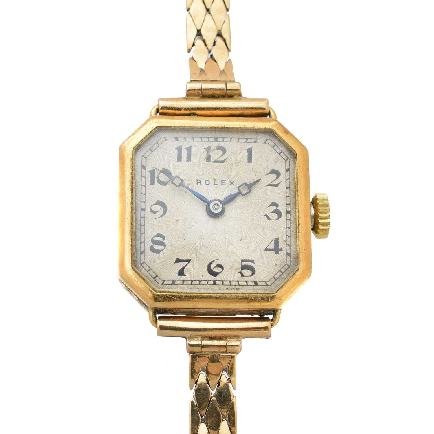 An early 20th century 18ct gold Rolex watch,