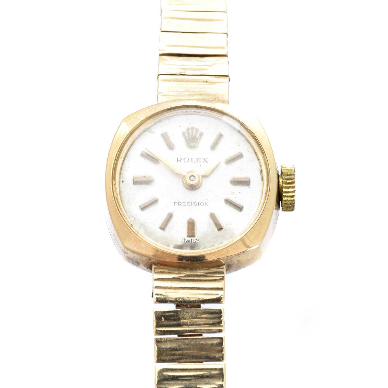 A 1960s 9ct gold ladies Rolex precision watch,