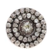A late Victorian diamond target brooch,