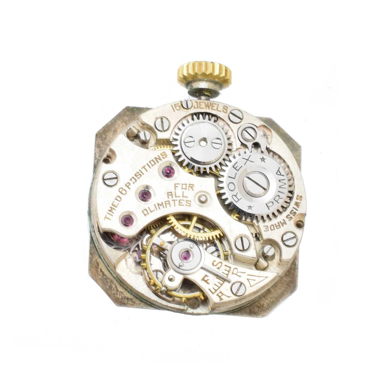 An early 20th century 18ct gold Rolex watch, - Image 5 of 5