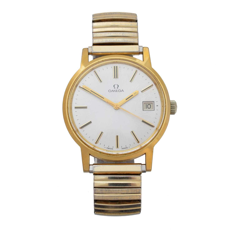 An Omega wristwatch,