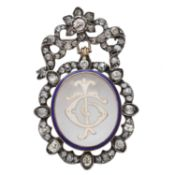 A late 19th century diamond and rock crystal brooch,