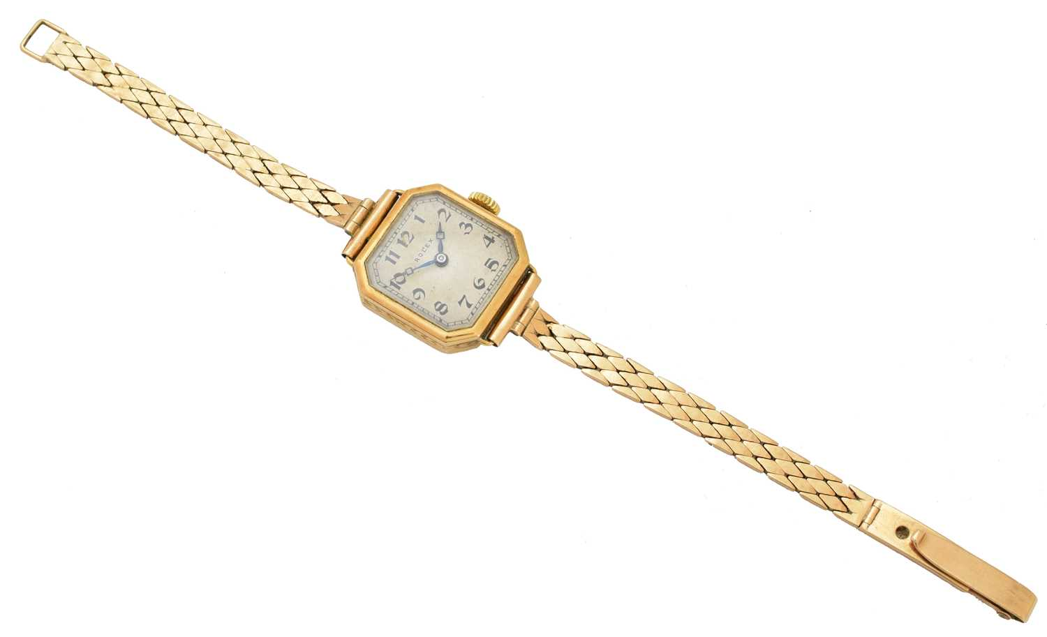 An early 20th century 18ct gold Rolex watch, - Image 3 of 5