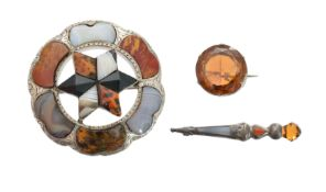 A selection of Scottish jewellery,