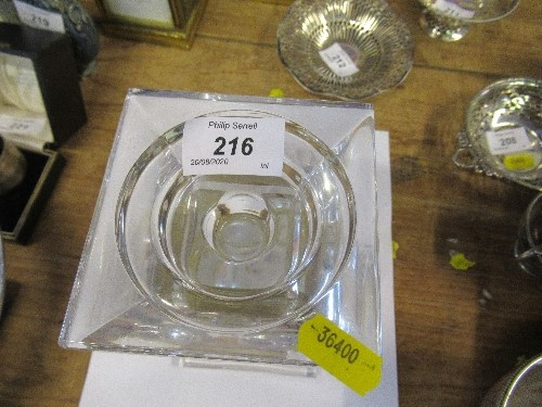 Lot 216 - A modern hallmarked silver and glass candlestick