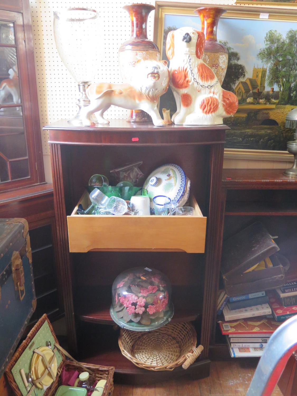 Lot 906 - A Selection of Oddments including a pair of restored Doulton vases, glass etc.