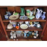 A Selection of Ceramics and Glass including Shelley, Victorian salt glazed jug by William Brownfield