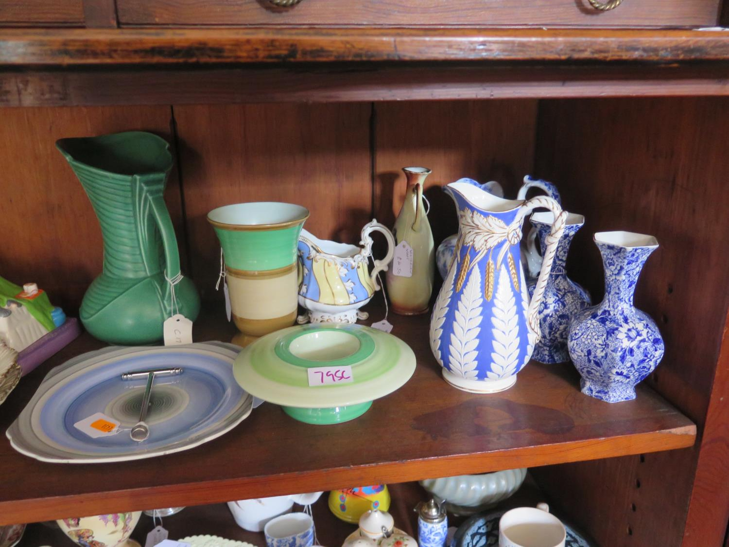 Lot 795C - A Selection of Ceramics and Glass including Shelley, Victorian salt glazed jug by William Brownfield