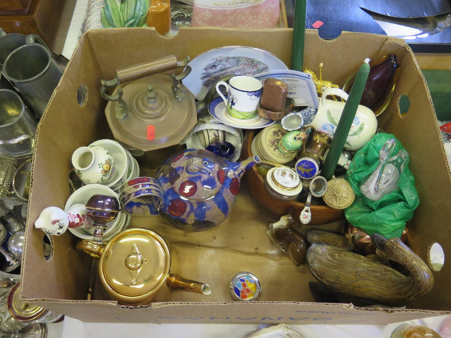 Lot 601 - A Box of Oddments including ceramics and glass