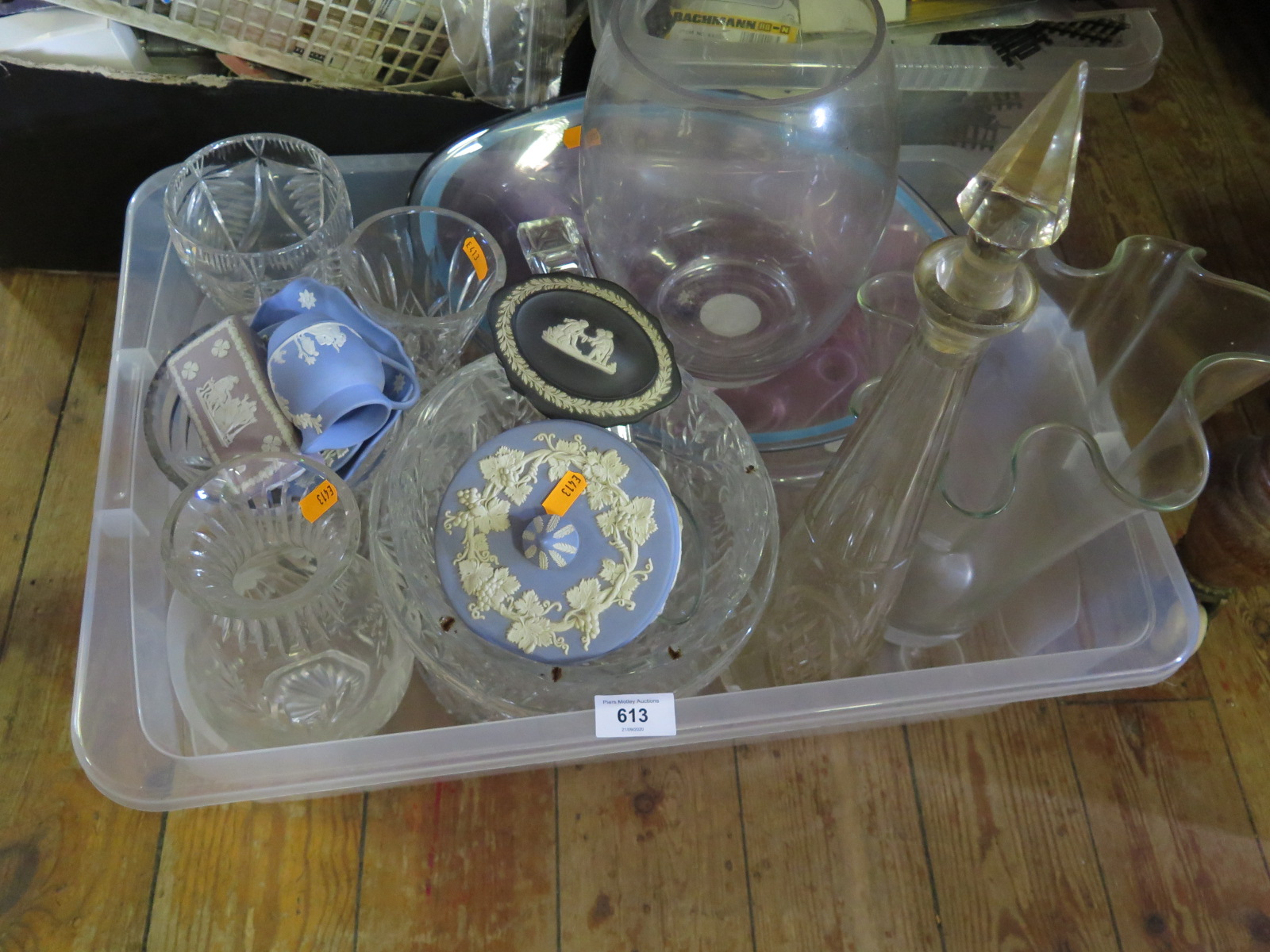Lot 613 - A Collection of Glass and Wedgwood Jasper Ware