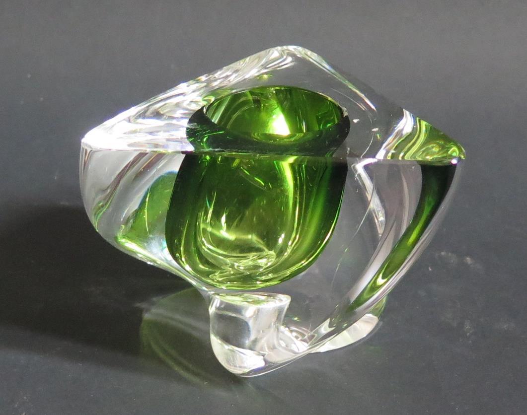 Lot 497 - Val St. Lambert Glass Candlestick