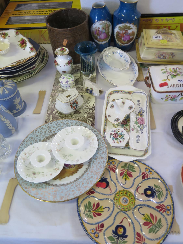 Lot 576 - Modern Limoges Vases, Mdina glass vase, Coalport, Wedgwood, Crown Staffordshire etc.