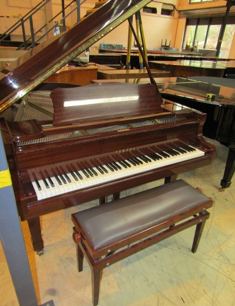 Lot 30 - Yamaha (c1989) A 6ft 1in Model C3 grand piano in a bright mahogany case on square tapered legs;