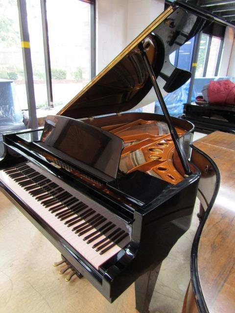 Lot 15 - Bösendorfer (c1985) A 6ft 7in Model 200 grand piano in a bright ebonised case on square tapered