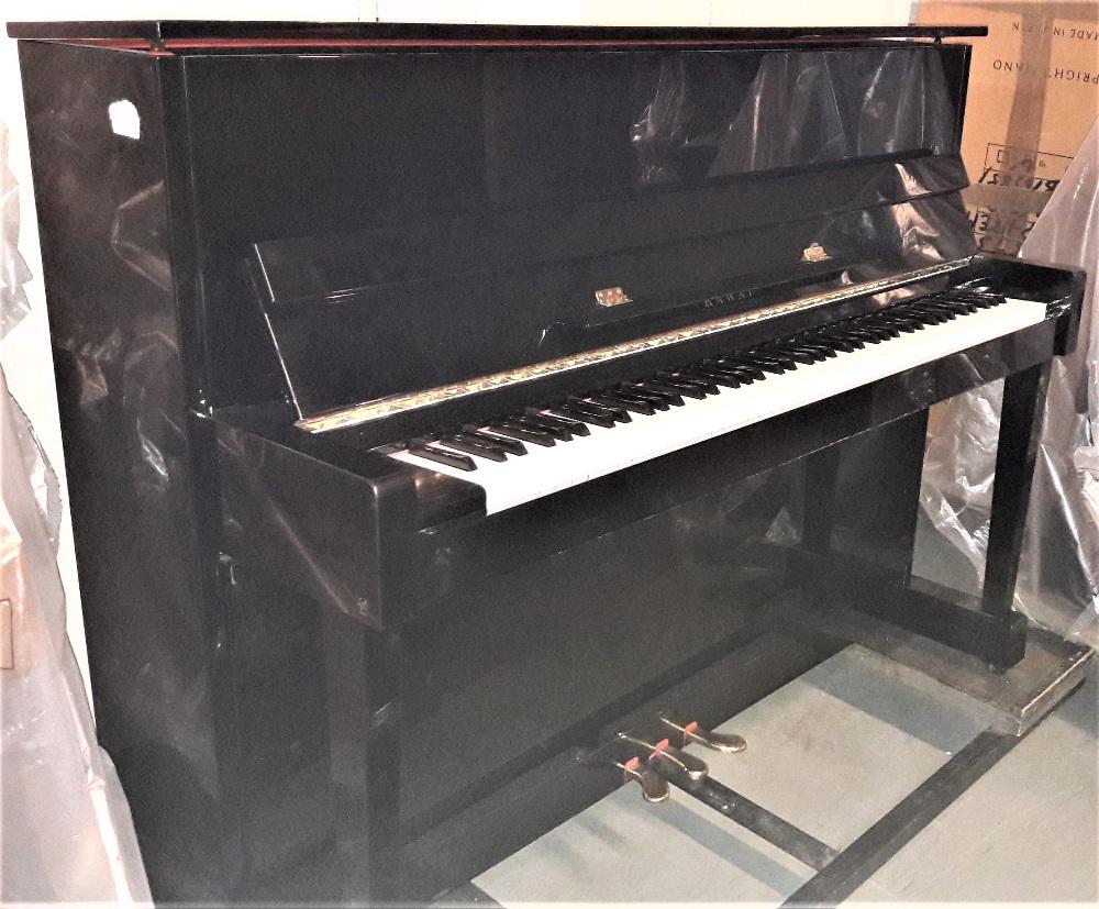 Lot 1 - Kawai (c1996) A Model CX-5H upright piano in a bright ebonised case.