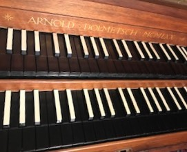 Lot 36 - Dolmetsch (c1974) A concert harpsichord, double manual, eight pedal, in a walnut case.