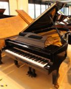 Grotrian Steinweg (c1992) A 9ft concert grand piano in a bright ebonised case on square tapered