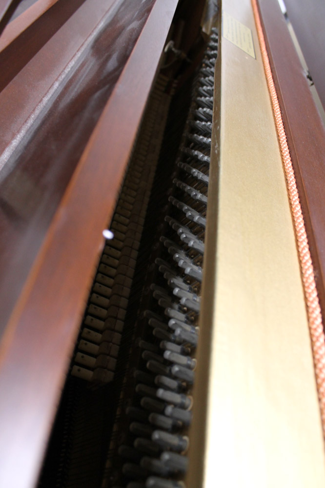 Knight (c1972) An upright piano in a colonial style mahogany case. - Image 3 of 5