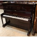 Bechstein (c1920's) A Model 9 upright piano in a bright mahogany case.