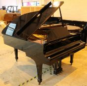 Steinway (c1966) A 6ft 2in Model A grand piano in a bright ebonised case on square tapered legs.