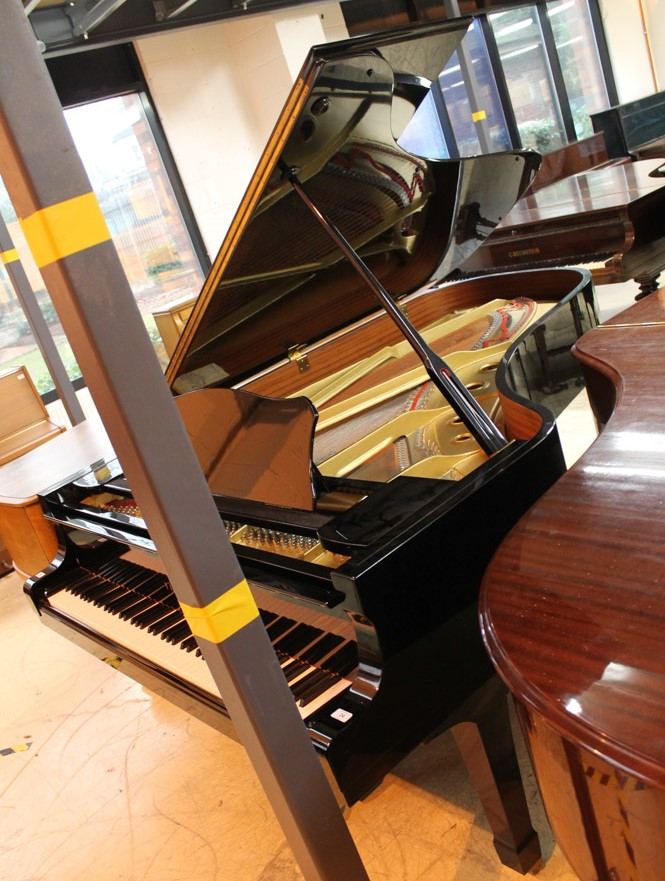 Yamaha (c1984) A 7ft 6in Model C7 grand piano in a bright ebonised case on square tapered legs. - Image 3 of 5