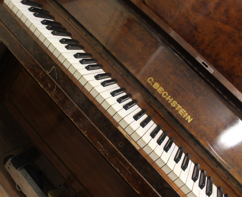 Bechstein (c1879) An upright piano in a figured walnut case. - Image 4 of 5