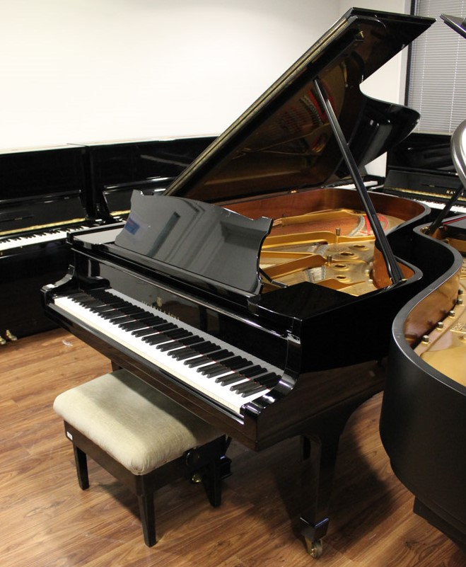 Steinway (c1971) A 6ft 11in Model B grand piano in a bright ebonised case on square tapered legs; - Image 3 of 4