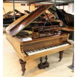 Blüthner (c1906) A 6ft 3in grand piano in a rosewood case on turned and fluted legs.