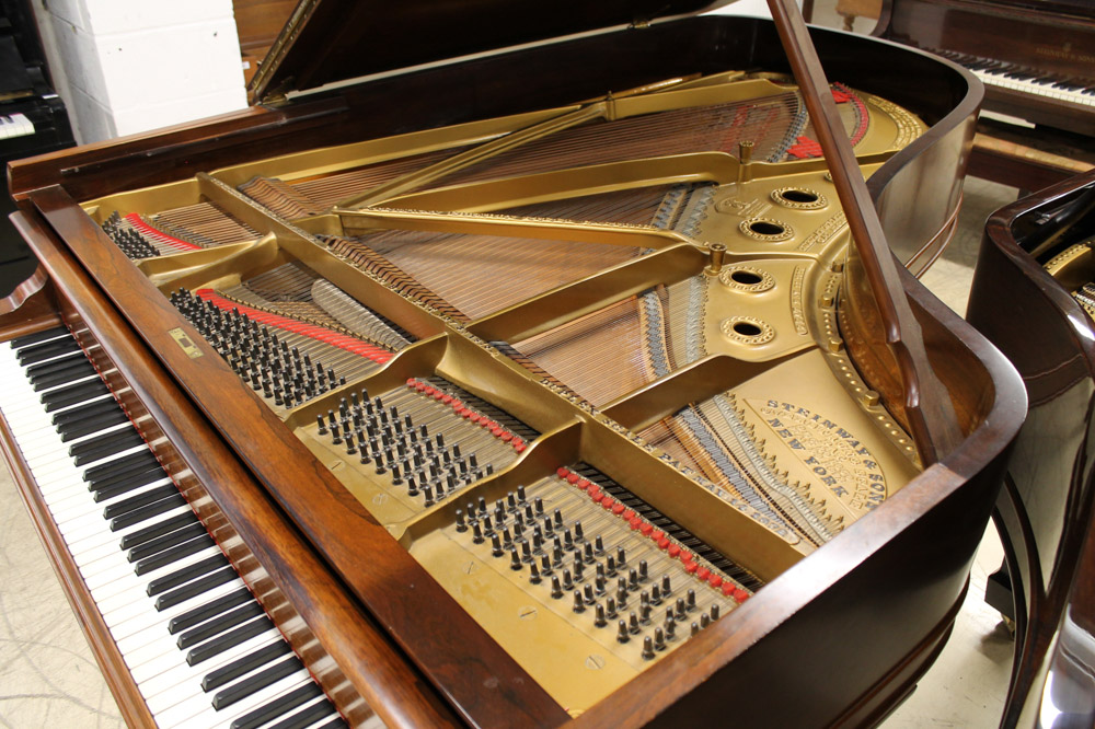 Steinway (c1900) A 6ft 11in 88-note Model B grand piano in a rosewood case on square tapered legs. - Image 2 of 6