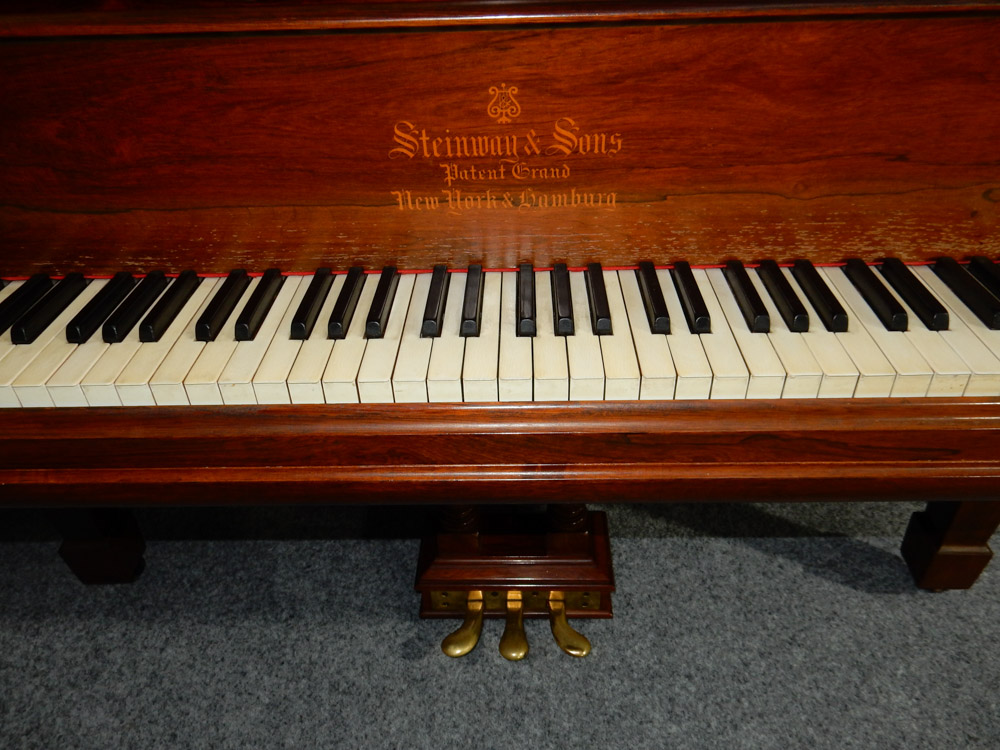 Steinway (c1900) A 6ft 11in 88-note Model B grand piano in a rosewood case on square tapered legs. - Image 6 of 6