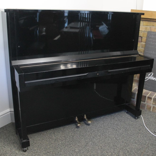 Kawai (c1962) An upright piano in a traditional style bright ebonised case - Image 4 of 5