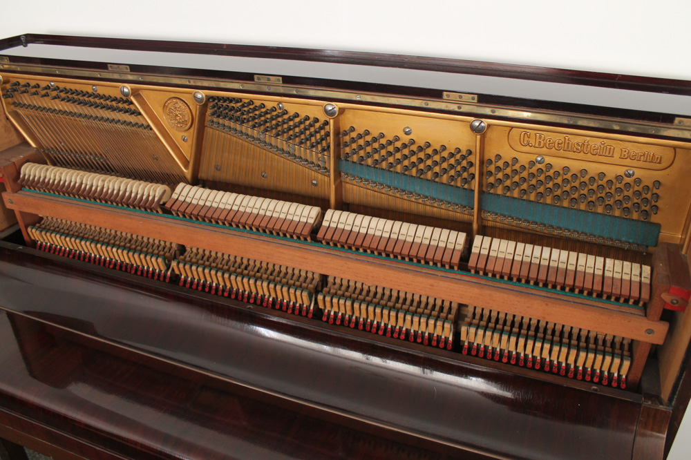 Bechstein (c1900) An upright piano in a rosewood case. - Image 2 of 4