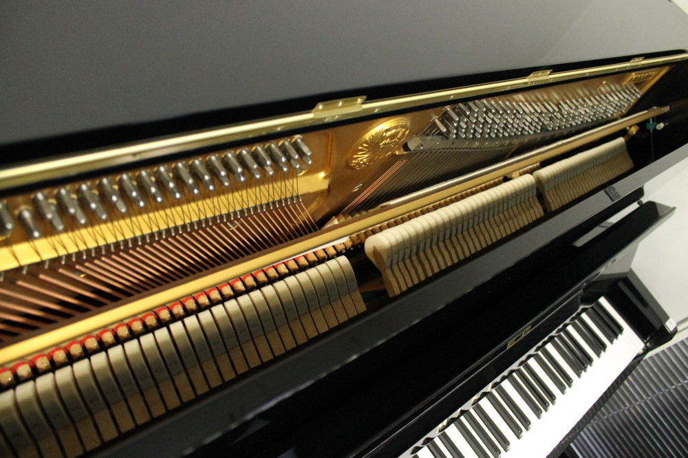 Miki A 121cm Model MU1D upright piano in a bright ebonised case. - Image 3 of 5