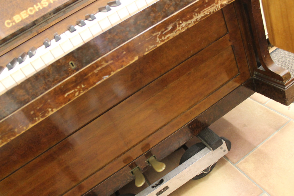 Bechstein (c1879) An upright piano in a figured walnut case. - Image 5 of 5