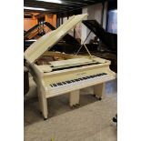 Bechstein (c1924) A 6ft Model A1 grand piano in a cream Art Deco case on slab legs.