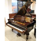 Bechstein (c1925) A 6ft 7in Model B grand piano in a re-polished rosewood case on turned octagonal