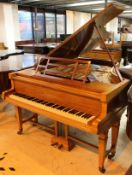 Blüthner (c1903) A 6ft 3in Model 6 Aliquot strung grand piano in a Sheraton style satinwood and