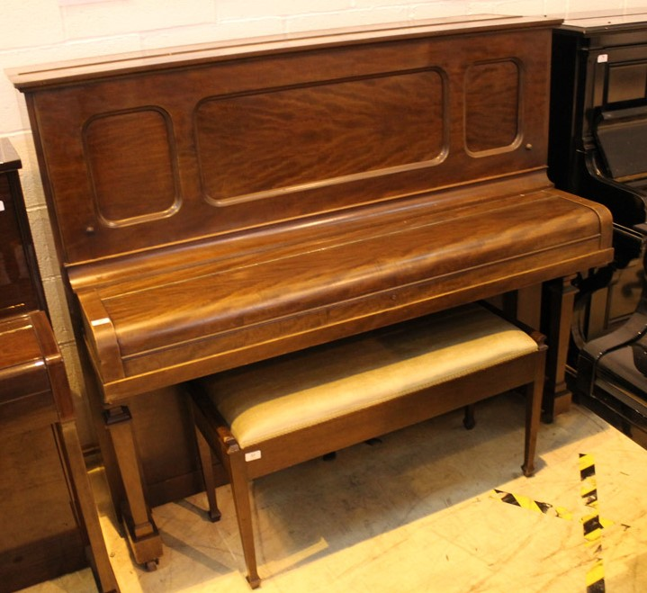 Steinway (c1925) A Model K upright piano in a mahogany case; - Image 2 of 6