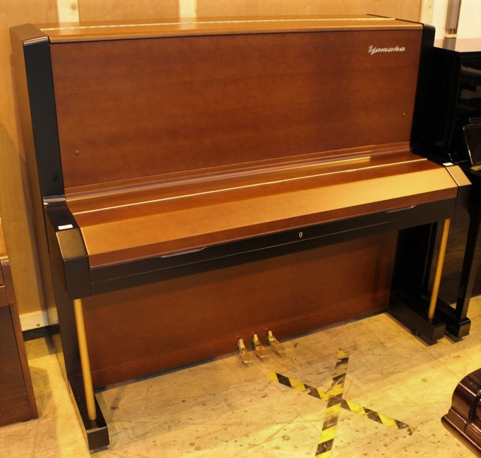Yamaha (c1958) A Model U3B upright piano in a brown and black satin case. - Image 2 of 5