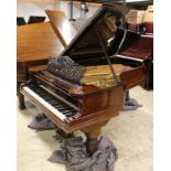 Steinway (c1891) A 6ft 11in 85-note Model B grand piano in a rosewood case on turned 'elephant'