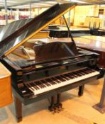 Yamaha (c1984) A 7ft 6in Model C7 grand piano in a bright ebonised case on square tapered legs.