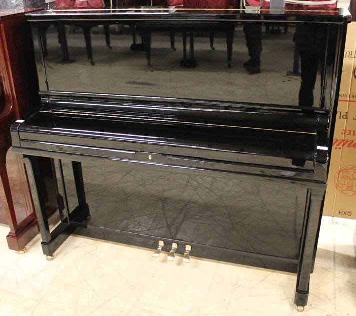 Schimmel (c1995) A Model 130 upright piano in a bright ebonised case. - Image 2 of 5