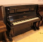 Blüthner (c1912) An overstrung and underdamped upright piano in an ebonised case;