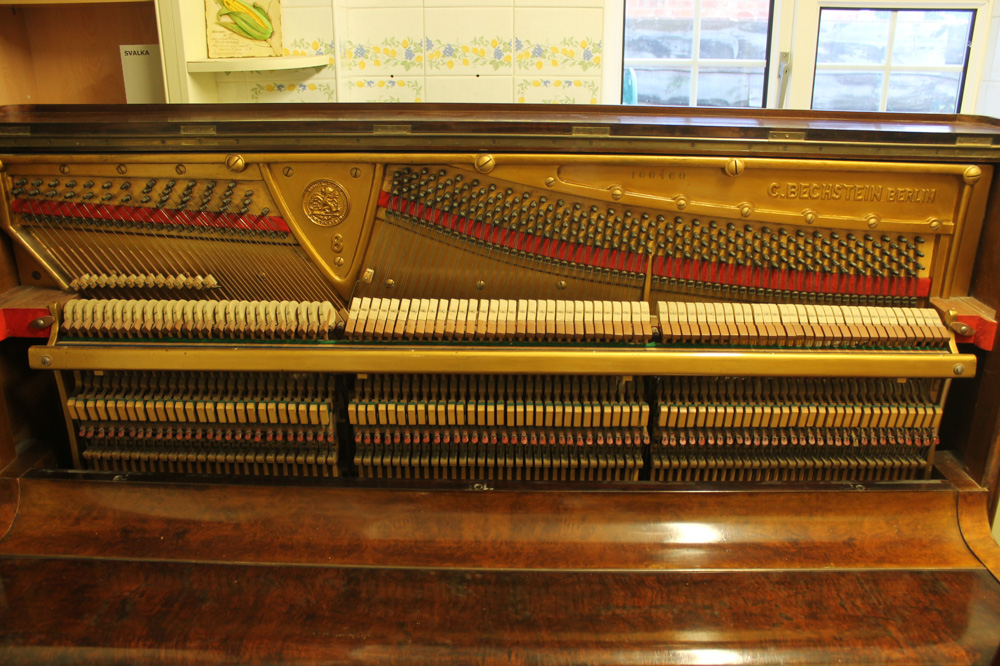 Bechstein (c1879) An upright piano in a figured walnut case. - Image 3 of 5