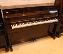 Marshall & Rose (c1990's) A Regency model upright piano with a flame mahogany front panel and