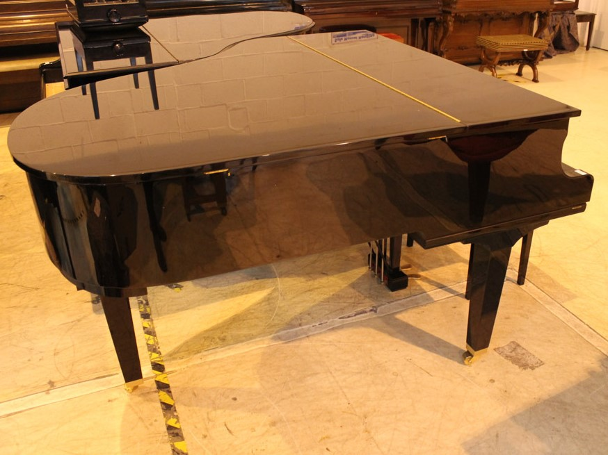 Yamaha (c2009) A 5ft 6in Model GC2 grand piano in a bright ebonised case on square tapered legs; - Image 4 of 8